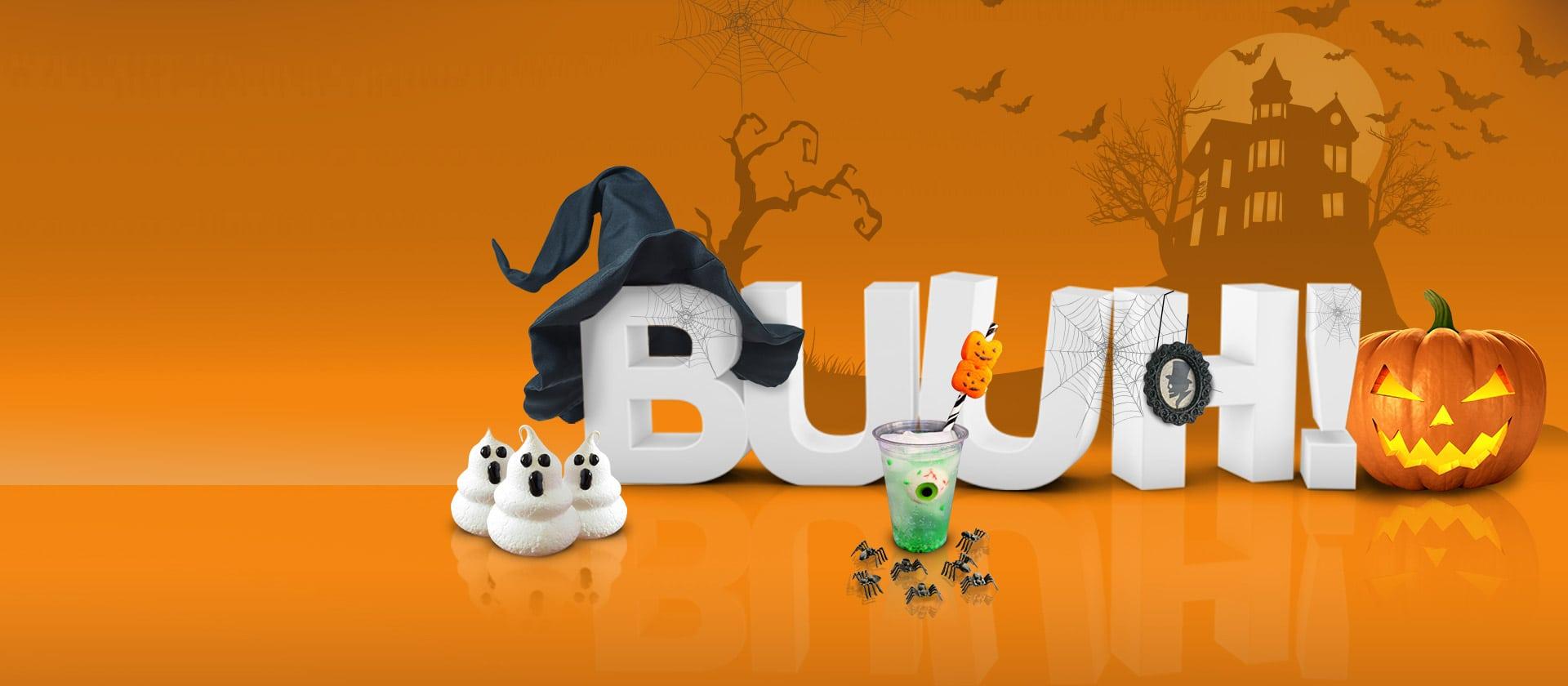 Diseño gráfico y 3D para campaña Halloween en Puerto Venecia