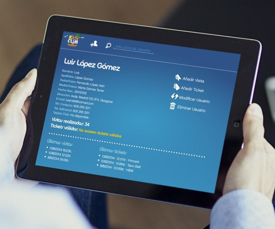 Programación de aplicación web para Kids Club Puerto Venecia