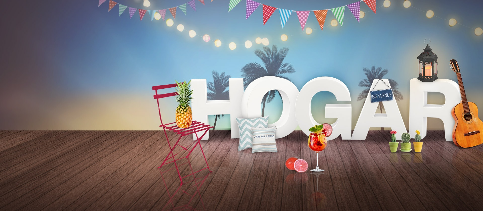 Diseño gráfico y 3D para campaña Hogar en Puerto Venecia