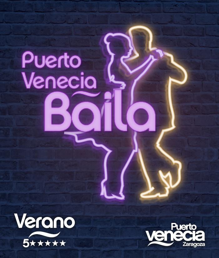 Diseño gráfico Puerto Venecia Baila