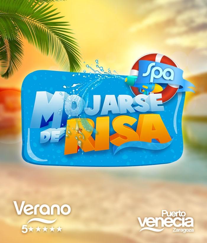 Creatividad campaña Verano 5 estrellas Puerto Venecia Spa mojarse de risa puerto venecia