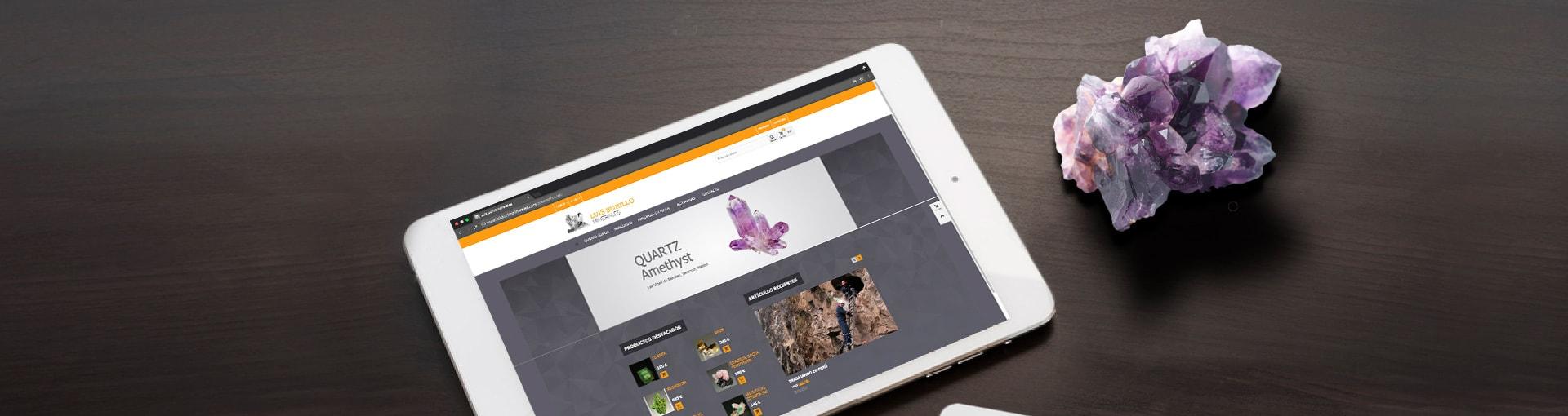 Diseño gráfico y web e-commerce para Luis Burillo Minerales