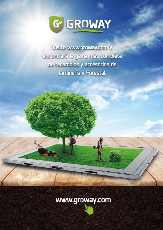 Diseño gráfico de cartelería para Groway. Grupo Miralbueno