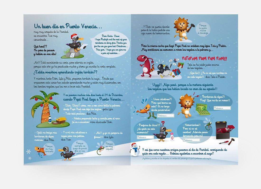 cuento de navidad puerto venecia guion e ilustracion