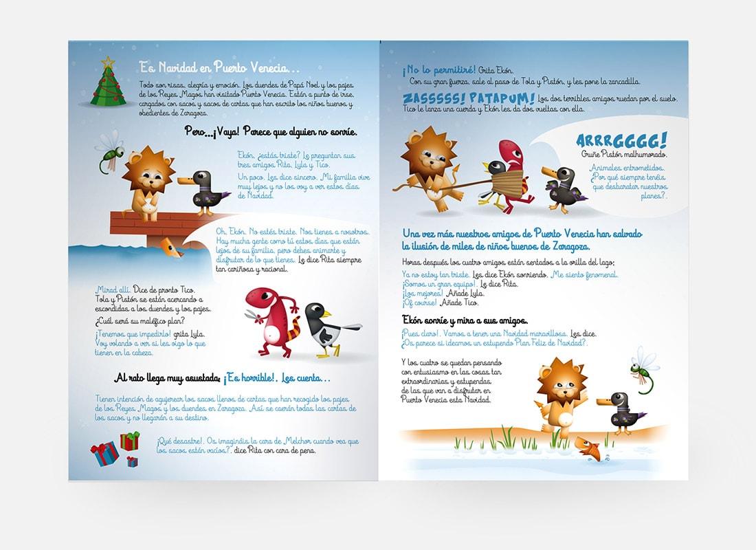 Cuento de Navidad texto e ilustración Puerto Venecia