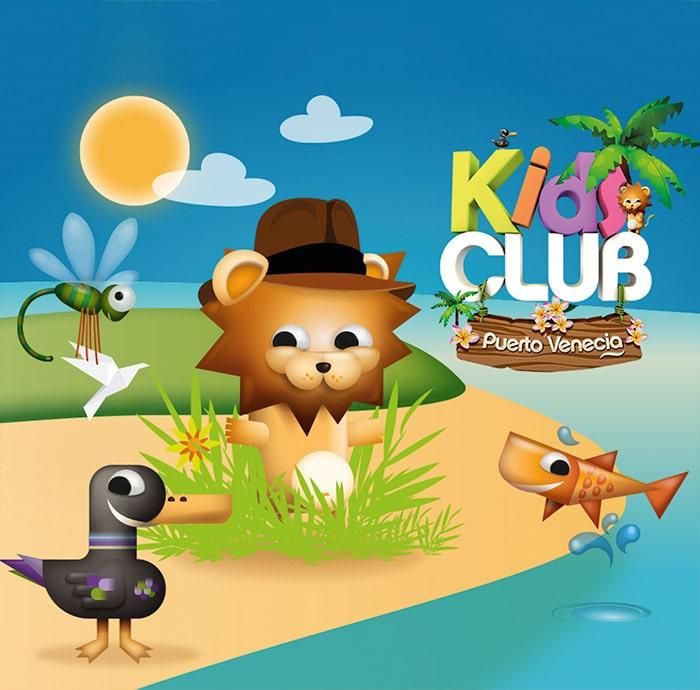 diseño cuentos para kids club puerto venecia