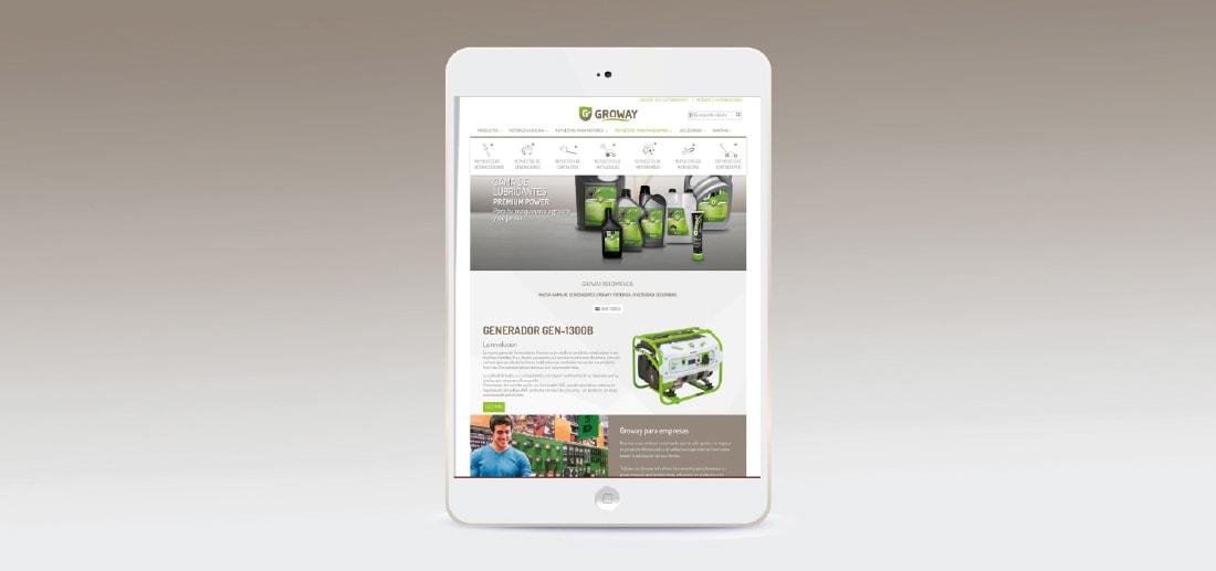 Diseño web proyecto Groway. Grupo Miralbueno