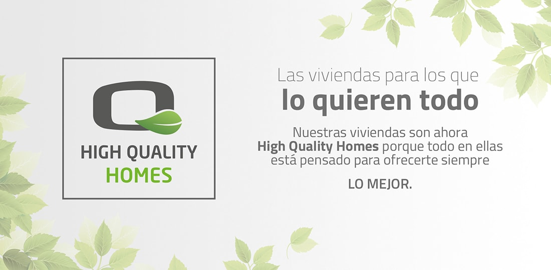 logotipo high quality homes grupo lobe