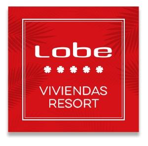 Diseño gráfico de identidad corporativa. Grupo Lobe viviendas resort