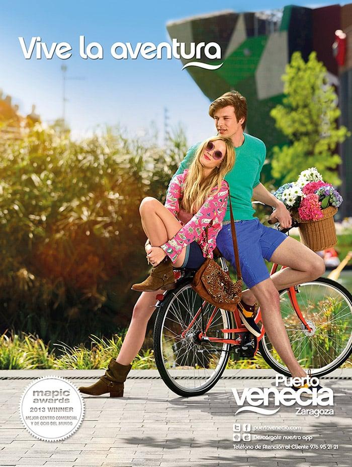 Imagen campaña de moda verano 2015 Puerto Venecia