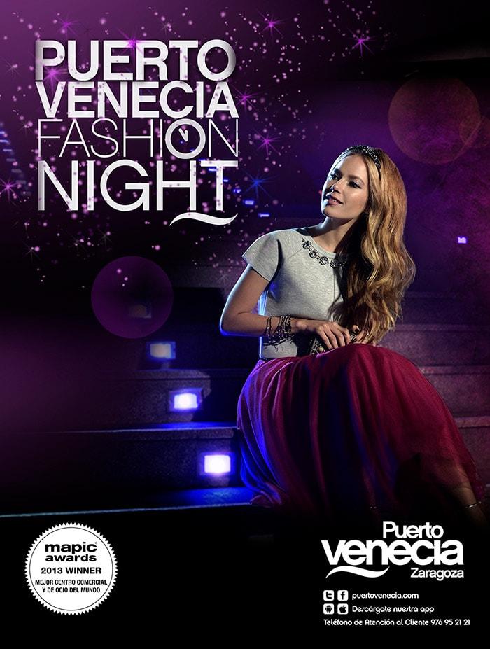 Diseño gráfico Fashion Night Puerto Venecia