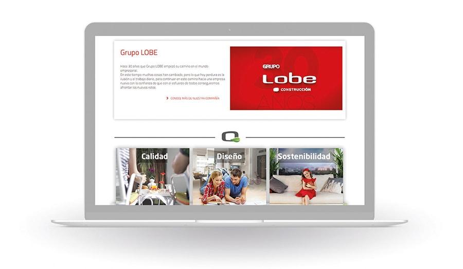 Diseño web para campaña Viviendas Passivhaus. Grupo Lobe