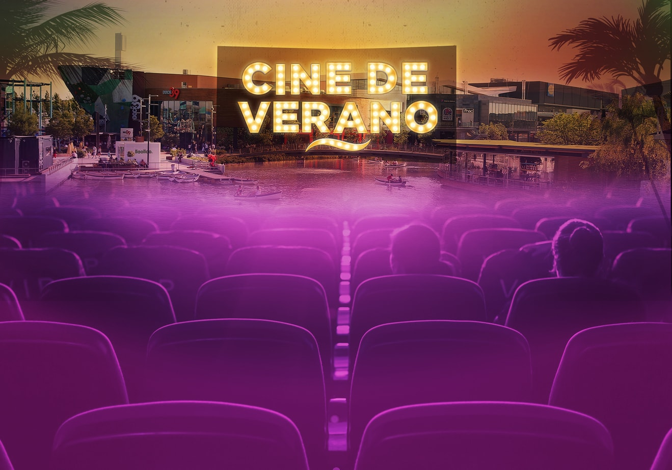 Ilustración, modelado 3D y diseño integral de espacio para Cine de Verano Puerto Venecia
