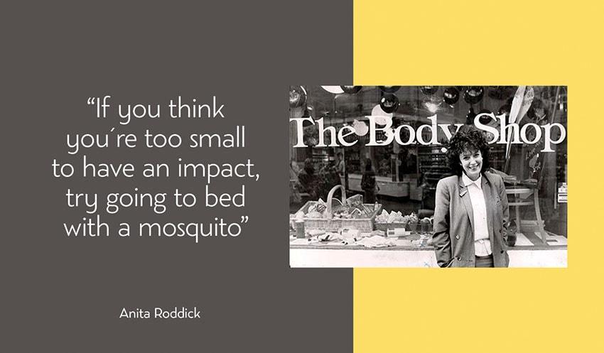Anita Roddick experiencia de usuario